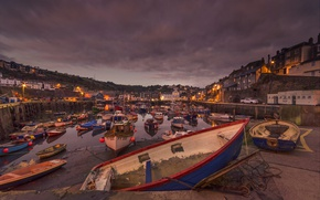 Picture England, home, boats, harbour, Mevagissey