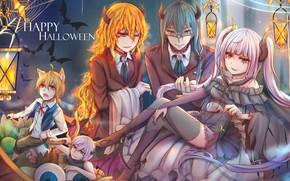 Picture anime, art, costumes, Halloween