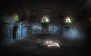 Picture death, background, the crypt