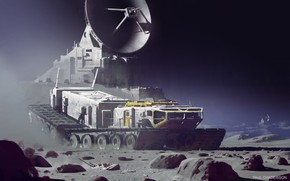 Picture stones, landscape, transport, Strike Vector EX, Space exploration