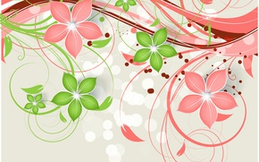 Picture flowers, background, pattern, texture