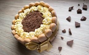Picture chocolate, cookies, tape, cake, cream, biscuit, Savoiardi