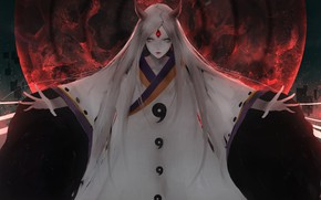 Wallpaper anime, art, Naruto, Kagura