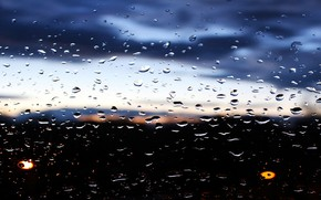 Picture drops, storm, Rain, the view from the window
