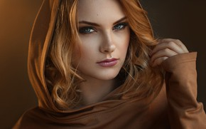 Wallpaper close up, bokeh, lips, portrait, model, looking at camera, hand in hair, Carla Sonre, Damian ...
