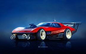Picture Red, Auto, Corvette, Chevrolet, Machine, Car, Art, Chevrolet Corvette, Rendering, Yasid Design, Yasid Oozeear, YASIDDESIGN