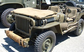 Picture car, USA, army, Jeep