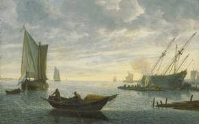 Picture ship, picture, sail, Lieve Petersson Verschuer, Caulking Ship