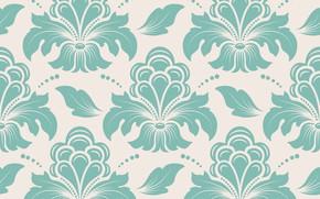 Wallpaper flowers, retro, pattern, vintage