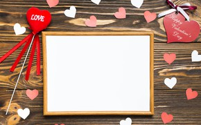 Picture holiday, wood, background, hearts, valentine's day, frame, around