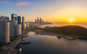 Picture dawn, morning, South Korea, Busan, Busan
