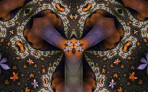 Wallpaper Pattern, Fractal, Flowers