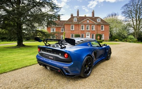 Picture auto, blue, house, Lotus, Requires