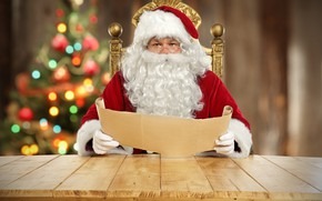 Picture letter, new year, Santa Claus, wish