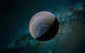 Wallpaper the milky way, open space, Jupiter