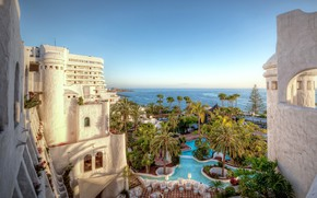 Picture Canary, Islands, pool, HDR, the ocean, pools, the hotel, Spain, The Canary Islands, Spain, resorts, …