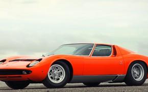 Picture Auto, Lamborghini, Retro, Machine, Orange, 1969, Lights, Car, Supercar, Miura, Supercar, Lamborghini Miura, Italian, Body, …