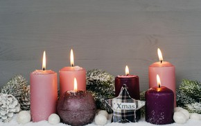 Picture holiday, toys, new year, spruce, candles, Christmas mood