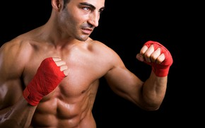 Picture red, man, fight, muscles, ring, fist, warrior, fitness, strong, ready, health, boxer, fierce, ripped
