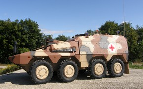 Picture military, Boxer, armored, stand, ambulance, military vehicle, armed forces, war materiel, support vehicle