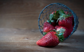 Picture dark, strawberry, photoshoot, Board, berries, composition, basket, background, berries