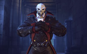 Picture Reaper Dracula Character Skin, Halloween Terror, OVERWATCH, mask