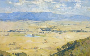 Picture landscape, picture, Arthur Streeton, Arthur Streeton, Melba`s Country