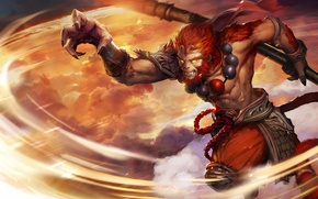 Picture art, Heroes of Newerth, moba, Monkey King, Six Eared Macaque
