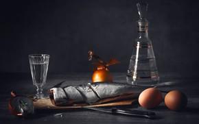 Picture eggs, fish, bow, stack, zakuson