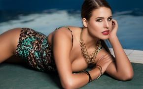 Picture swimsuit, look, pose, model, pool, Mark Tiu, Brett Koester