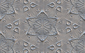 Wallpaper pattern, gray, texture, texture, ornament, background, grey, metalic, flowers