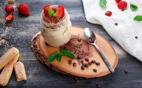 Wallpaper cookies, strawberry, dessert