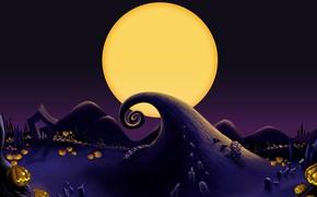 Picture night, holiday, the moon, pumpkin, Halloween, zakrutka