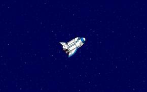 Picture Figure, Stars, Space, Art, Pixels, Flies, Shuttle, 8bit