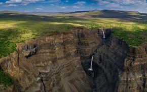 Picture waterfall, gorge, Russia, The Putorana