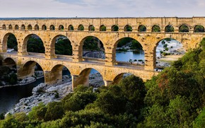 Wallpaper viaduct, bridge, arch, river