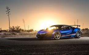 Wallpaper Honda, sunset, Acura, NSX