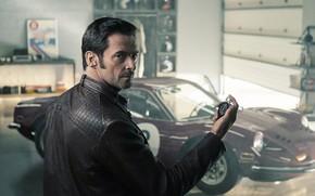 Picture auto, watch, jacket, actor, Hugh Jackman, hugh jackman, actor