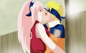 Picture love, game, Sakura, anime, kiss, ninja, asian, manga, hokage, shinobi, oriental, nanadaime hokage, asiatic, kunoichi, …