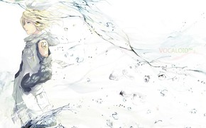 Picture water, girl, Vocaloid, Vocaloid, Kagamine Rin