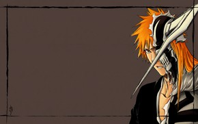 Picture background, anime, frame, art, Bleach, Bleach, Ichigo Kurosaki