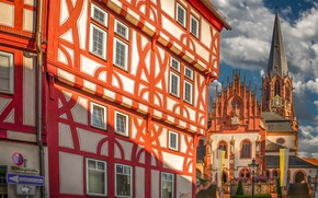 Picture the building, Germany, Bayern, Church, Germany, Bavaria, Aschaffenburg, Collegiate Church of St Peter and Alexander, ...