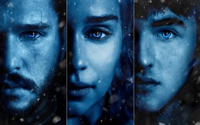 Picture A Song of Ice and Fire, Emilia Clarke, Daenerys Targaryen, Jon Snow, Bran Stark, Game …