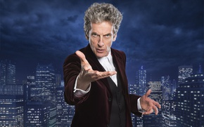 Picture the sky, look, the city, home, skyscrapers, actor, male, Doctor Who, Doctor Who, Peter Capaldi, ...