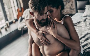 Picture girl, hugs, guy, a couple, lovers