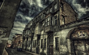 Picture HDR, Street, Istanbul, Turkey, Street, Istanbul, Turkey, The old building, Old building
