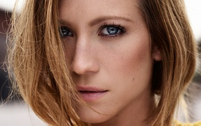 Picture look, face, portrait, makeup, actress, hairstyle, brown hair, closeup, jumper, Brittany Snow, Yahoo Style, Alisha …