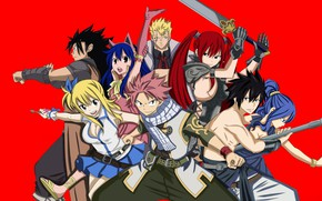 Picture game, anime, asian, manga, japanese, Fairy Tail, oriental, asiatic, powerful, strong, sugoi