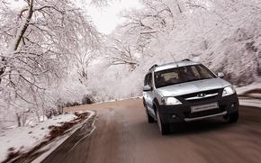 Picture winter, road, Russia, AvtoVAZ, lada largus cross