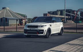 Picture white, SUV, Land Rover, Range Rover, Sport, crossover, range Rover, Prior-Design, land Rover, PD800RR